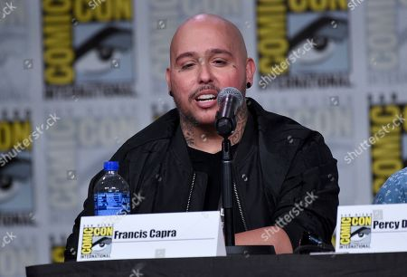 """Francis Capra speaks at the world premiere and Q&A of """"Veronica Mars"""" panel on day two of Comic-Con International, in San Diego"""