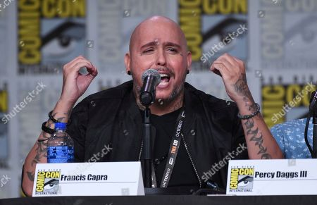 """Stock Image of Francis Capra speaks at the world premiere and Q&A of """"Veronica Mars"""" panel on day two of Comic-Con International, in San Diego"""