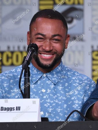 """Percy Daggs III reacts at the world premiere and Q&A of """"Veronica Mars"""" panel on day two of Comic-Con International, in San Diego"""