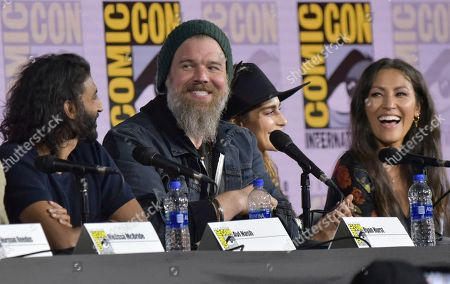 "Avi Nash, Ryan Hurst, Nadia Hilker, Eleanor Matsuura. Avi Nash, from left, Ryan Hurst, Nadia Hilker and Eleanor Matsuura participate in ""The Walking Dead"" panel on day two of Comic-Con International, in San Diego"