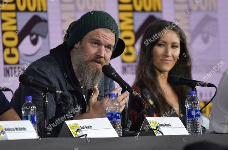 "Ryan Hurst, Eleanor Matsuura. Ryan Hurst, left, and Eleanor Matsuura participate in ""The Walking Dead"" panel on day two of Comic-Con International, in San Diego"