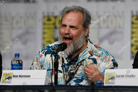 """Dan Harmon speaks at the """"Rick and Morty"""" panel on day two of Comic-Con International, in San Diego"""