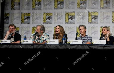 "Justin Roiland, Dan Harmon, Sarah Chalke, Chris Parnell, Spencer Grammer. Justin Roiland, from left, Dan Harmon, Sarah Chalke, Chris Parnell and Spencer Grammer participate in the ""Rick and Morty"" panel on day two of Comic-Con International, in San Diego"