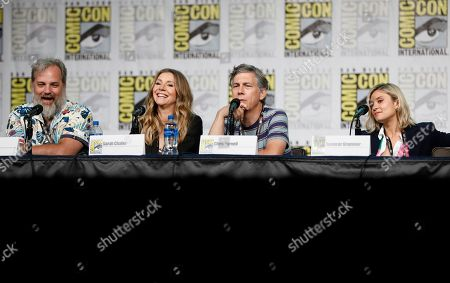 "Dan Harmon, from left, Sarah Chalke, Chris Parnell, Spencer Grammer. Dan Harmon, from left, Sarah Chalke, Chris Parnell and Spencer Grammer participate in the ""Rick and Morty"" panel on day two of Comic-Con International, in San Diego"