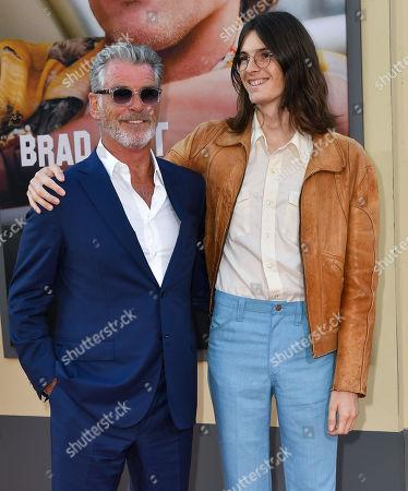 Pierce Brosnan and Dylan Brosnan