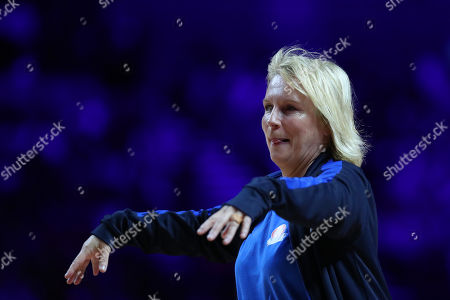 Jennifer Saunders during the Sport Relief celebrity match