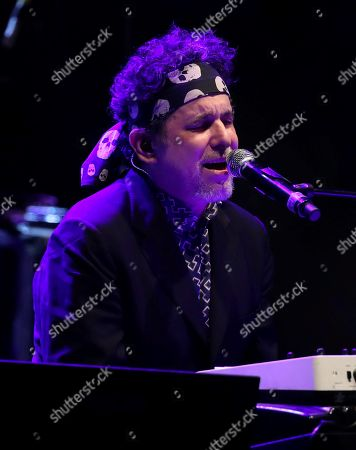 Argentinian composer and singer Andres Calamaro performs on stage at Southern Pyrenees Festival at Lanuzas reservoir in Huesca, northern Spain, 19 July 2019. The festival runs from 12 to 28 July.