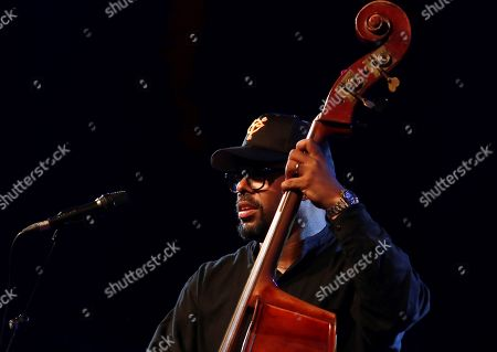 Stock Photo of US double-bass player Christian Mcbride performs on the stage as part of 32th Festival de Jazz en la Costa jazz festival in Almunecar, Andalusia, southern Spain, 19 July 2019. The festival runes from 15 to 20 July.