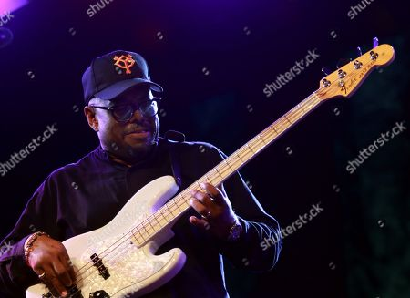 US double-bass player Christian Mcbride performs on the stage as part of 32th Festival de Jazz en la Costa jazz festival in Almunecar, Andalusia, southern Spain, 19 July 2019. The festival runes from 15 to 20 July.