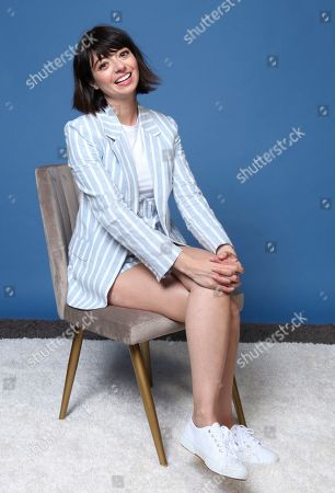 "Kate Micucci poses for a portrait to promote the animated television series ""DuckTales"" on day two of Comic-Con International, in San Diego"