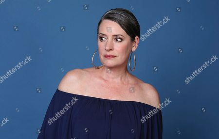 """Stock Picture of Paget Brewster poses for a portrait to promote the animated television series """"DuckTales"""" on day two of Comic-Con International, in San Diego"""