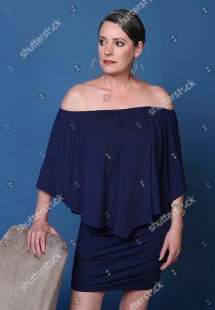 """Stock Image of Paget Brewster poses for a portrait to promote the animated television series """"DuckTales"""" on day two of Comic-Con International, in San Diego"""
