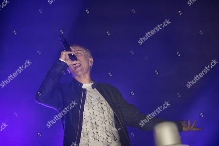 Karl Hyde of British band Underwolrd performs on stage during the second day of the Sonar 2019 Music Festival in Barcelona, Catalonia, Spain, 19 July 2019. Sonar Festival runs from 18 July to 20 July 2019.
