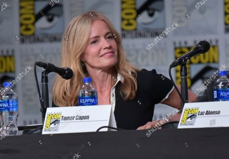 """Elisabeth Shue attends """"The Boys"""" panel on day two of Comic-Con International, in San Diego"""
