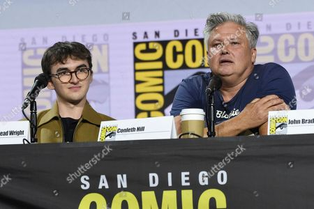 "Isaac Hempstead Wright, Conleth Hill. Isaac Hempstead Wright, left, and Conleth Hill attend the ""Game of Thrones"" panel on day two of Comic-Con International, in San Diego"