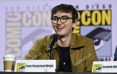 "Isaac Hempstead Wright appears at the ""Game of Thrones"" panel on day two of Comic-Con International, in San Diego"