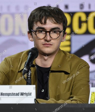 "Isaac Hempstead Wright participates at the ""Game of Thrones"" panel on day two of Comic-Con International, in San Diego"