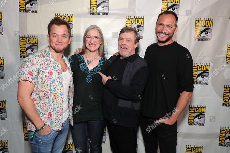 Taron Egerton, Lisa Henson, Executive Producer, Mark Hamill, Louis Leterrier, Director/Executive producer