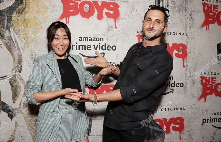 Karen Fukuhara and Tomer Kapon