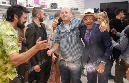 Karl Urban, Chace Crawford, Eric Kripke and Giancarlo Esposito