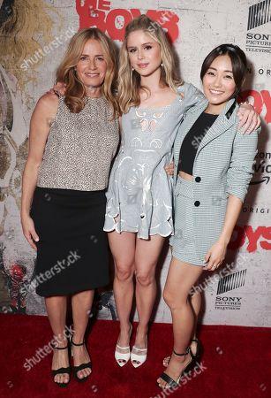 Elisabeth Shue, Erin Moriarty and Karen Fukuhara