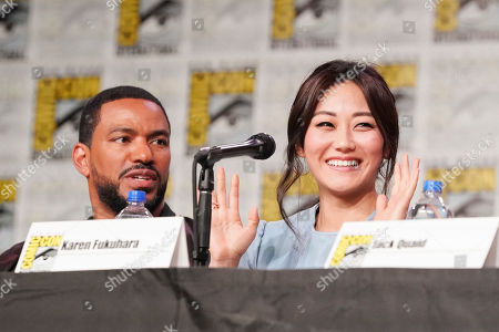 Laz Alonso and Karen Fukuhara