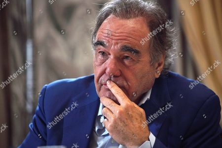 Oliver Stone interviews Russian President Vladimir Putin for his Revealing Ukraine documentary at the Kremlin in Moscow, Russia, late 19 July 2019.