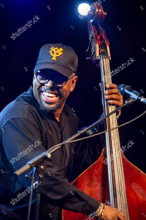 Stock Picture of Christian McBride, double bass and electric bass. performs on the stage