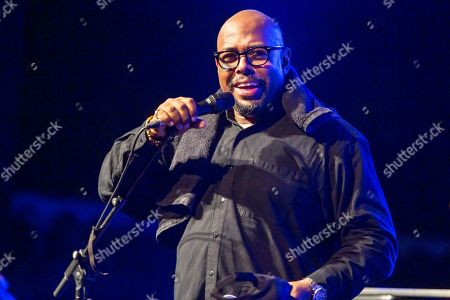 Stock Image of Christian McBride, double bass and electric bass. performs on the stage