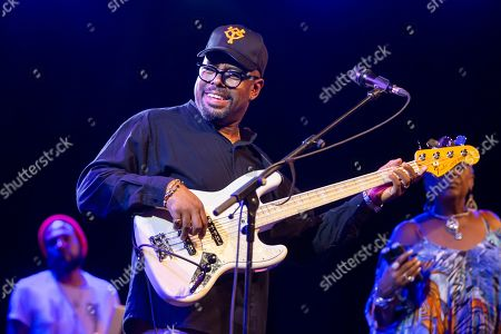 Christian McBride, double bass and electric bass. performs on the stage