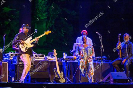 Christian McBride, double bass and electric bass. Alyson Williams, voice. Ron Blake, saxophones. performs on the stage