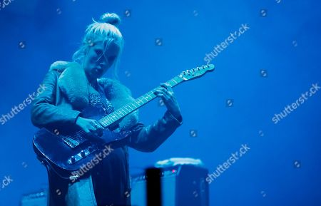 Ellie Rowsell of British alternative rock band Wolf Alice performs with her band during the 'Splendour In the Grass' music festival in North Byron Parklands, in Yelgun, New South Wales, Australia, 20 July 2019. The music festival, which showcases notable as well as emerging musical artists, runs from 19 until 21 July 2019.