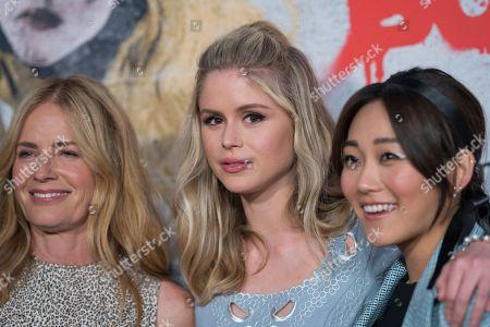 Stock Image of Elisabeth Shue, Erin Moriarty and Karen Fukuhara
