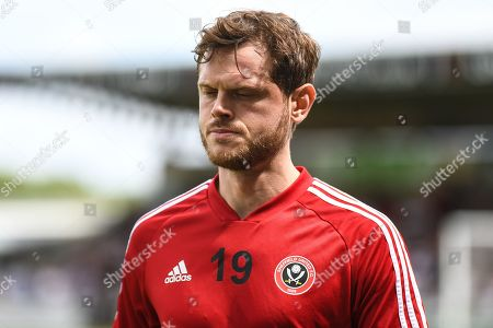 Sheffield United defender Richard Stearman (19) during the Pre-Season Friendly match between Northampton Town and Sheffield United at the PTS Academy Stadium, Northampton