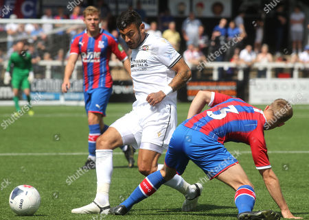 George Porter of Bromley takes the ball past Josh Williams of Crystal Palace during Bromley vs Crystal Palace, Friendly Match Football at the H2T Group Stadium on 20th July 2019