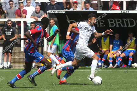 George Porter of Bromley races upfield during Bromley vs Crystal Palace, Friendly Match Football at the H2T Group Stadium on 20th July 2019