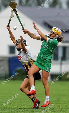 Kilkenny vs Limerick. Kilkenny's Anna Farrell and Karen O'Leary of Limerick