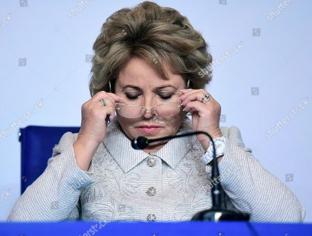 Chairman of the Federation Council of Russia Valentina Matviyenko at the forum.