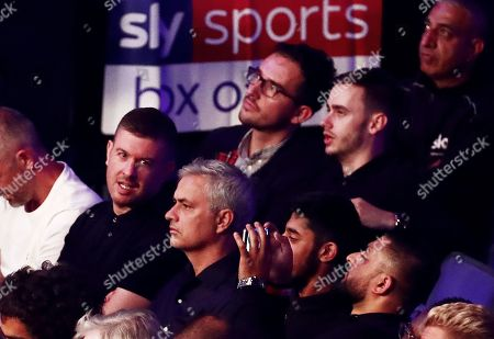 Jose Mourinho watches on during the David Price v Dave Allen fight.