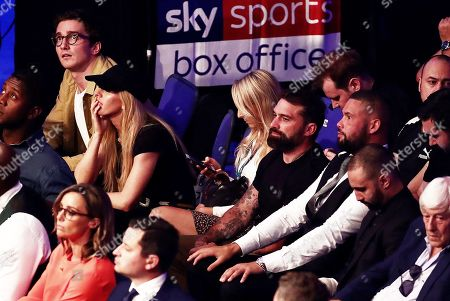Singer Ellie Goulding, TV Personality Ant Middleton and boxer Tony Bellow watch on.