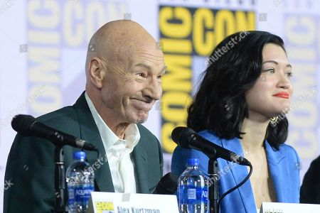 Stock Picture of Sir Patrick Stewart and Isa Briones