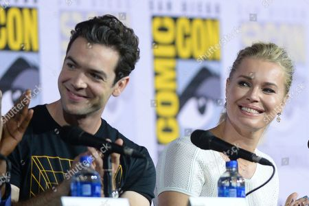 Ethan Peck and Rebecca Romijn