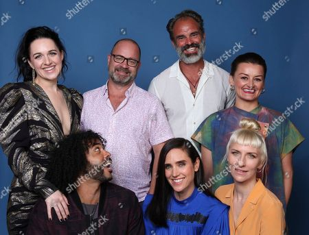 "Lena Hall, Graeme Manson, Graeme Manson. Lena Hall, from left background, Graeme Manson, Steven Ogg, Graeme Manson, Daveed Diggs, left foreground, Jennifer Connelly and Mickey Sumner pose for a portrait to promote the television series ""Snowpiercer"" on day three of Comic-Con International, in San Diego"