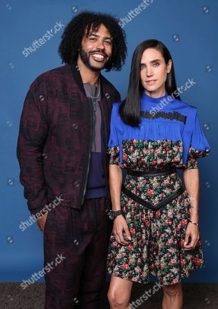 """Daveed Diggs, Jennifer Connelly. Daveed Diggs, left, and Jennifer Connelly pose for a portrait to promote the television series """"Snowpiercer"""" on day three of Comic-Con International, in San Diego"""