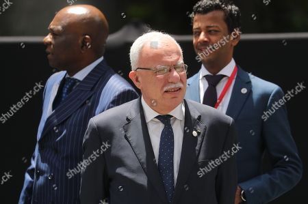 Palestinian Minister of Foreign Affairs Riyad al-Maliki attends a meeting of the Non-Aligned Movement (NAM) coordination bureau, in Caracas, Venezuela, 20 July 2019.
