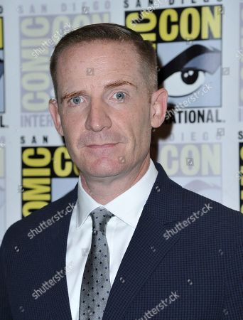 """Marc Evan Jackson arrives at """"The Good Place"""" press line on day three of Comic-Con International, in San Diego"""
