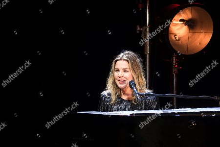 Canadian singer and piano player Diana Krall performs during the Cap Roig Festival at the Botanic Garden of Calella de Palafrugell, in Girona, Spain, 20 July 2019.