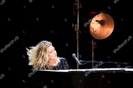 Stock Image of Canadian singer and piano player Diana Krall performs during the Cap Roig Festival at the Botanic Garden of Calella de Palafrugell, in Girona, Spain, 20 July 2019.