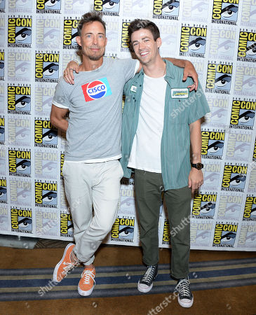 Stock Image of Tom Cavanagh and Grant Gustin