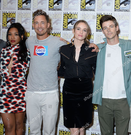 Candice Patton, Tom Cavanagh, Danielle Panabaker and Grant Gustin